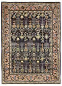 Täbriz 50 Raj Teppich 150X198 Echter Orientalischer Handgeknüpfter Dunkelgrau/Dunkelblau (Wolle, Persien/Iran)
