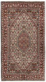 Bidjar Teppich  94X167 Echter Orientalischer Handgeknüpfter Dunkelbraun/Hellbraun (Wolle, Persien/Iran)