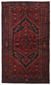 Hamadan Teppich  134X226 Echter Orientalischer Handgeknüpfter Dunkelrot (Wolle, Persien/Iran)