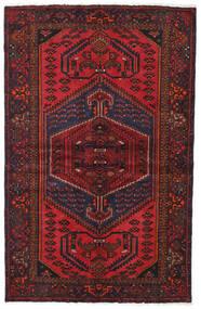 Hamadan Teppich  130X201 Echter Orientalischer Handgeknüpfter Dunkelrot/Dunkelbraun (Wolle, Persien/Iran)