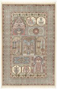 Ilam Sherkat Farsh Seide Teppich  148X223 Echter Orientalischer Handgeknüpfter Hellgrau/Beige (Wolle/Seide, Persien/Iran)