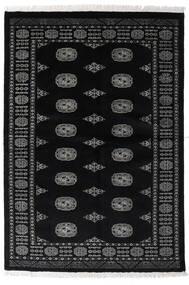 Pakistan Buchara 3Ply Teppich  135X196 Echter Orientalischer Handgeknüpfter Schwartz/Dunkelgrau (Wolle, Pakistan)