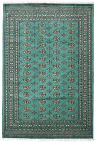 Pakistan Buchara 2Ply Teppich 187X276 Echter Orientalischer Handgeknüpfter Türkisblau/Dunkelgrau (Wolle, Pakistan)