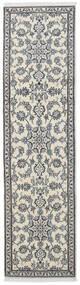 Nain Teppich  77X288 Echter Orientalischer Handgeknüpfter Läufer Dunkelgrau/Hellgrau/Beige (Wolle, Persien/Iran)