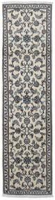 Nain Teppich  76X290 Echter Orientalischer Handgeknüpfter Läufer Hellgrau/Dunkelgrau (Wolle, Persien/Iran)