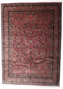 Keshan Indisch Teppich 248X347 Echter Orientalischer Handgeknüpfter Dunkelbraun/Dunkelrot (Wolle, Indien)