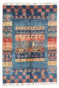 Modern Afghan Teppich  87X124 Echter Moderner Handgeknüpfter Dunkelblau/Blau (Wolle, Afghanistan)