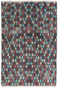 Moroccan Berber - Afghanistan Teppich  158X207 Echter Moderner Handgeknüpfter Dunkelgrau/Schwartz (Wolle, Afghanistan)