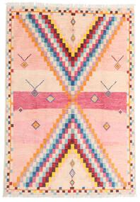Moroccan Berber - Afghanistan Teppich  170X247 Echter Moderner Handgeknüpfter Hellrosa/Beige (Wolle, Afghanistan)