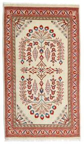 Sarough Teppich  80X140 Echter Orientalischer Handgeknüpfter Hell Grün/Dunkelrot (Wolle, Persien/Iran)