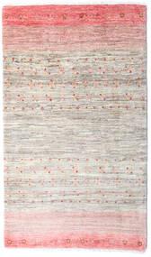 Loribaft Persisch Teppich  82X141 Echter Moderner Handgeknüpfter Hellrosa/Hellgrau/Beige (Wolle, Persien/Iran)