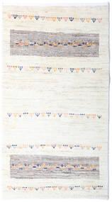 Loribaft Persisch Teppich  80X144 Echter Moderner Handgeknüpfter Beige/Weiß/Creme (Wolle, Persien/Iran)