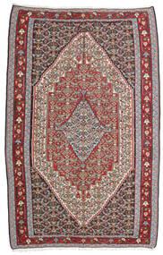 Kelim Senneh Teppich 160X246 Echter Orientalischer Handgewebter Hellgrau/Dunkelgrau (Wolle, Persien/Iran)