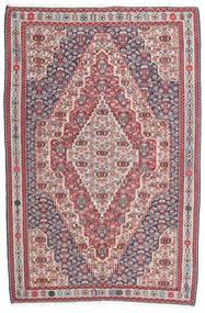 Kelim Senneh Teppich 148X225 Echter Orientalischer Handgewebter Dunkelgrau/Hellgrau (Wolle, Persien/Iran)