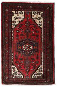 Hamadan Teppich  80X125 Echter Orientalischer Handgeknüpfter Dunkelbraun/Dunkelrot (Wolle, Persien/Iran)
