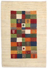 Loribaft Persisch Teppich  105X151 Echter Moderner Handgeknüpfter Beige/Dunkelrot (Wolle, Persien/Iran)