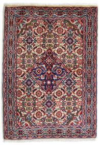 Sarough Teppich 59X82 Echter Orientalischer Handgeknüpfter Dunkellila/Hellgrau (Wolle, Persien/Iran)