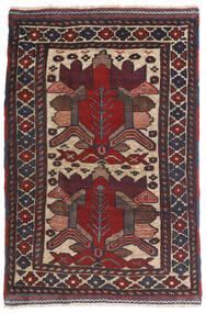 Kelim Golbarjasta Teppich  90X140 Echter Orientalischer Handgewebter Dunkelblau/Dunkelbraun (Wolle, Afghanistan)