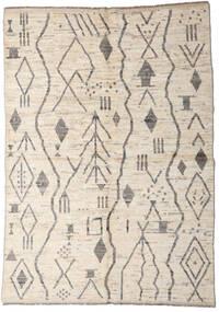 Moroccan Berber - Afghanistan Teppich  167X234 Echter Moderner Handgeknüpfter Hellgrau/Beige (Wolle, Afghanistan)