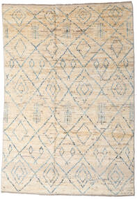 Moroccan Berber - Afghanistan Teppich  163X237 Echter Moderner Handgeknüpfter Beige/Hellgrau (Wolle, Afghanistan)