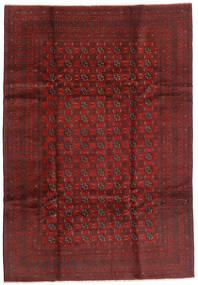 Afghan Teppich 199X289 Echter Orientalischer Handgeknüpfter Dunkelrot/Dunkelbraun (Wolle, Afghanistan)