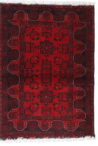 Afghan Khal Mohammadi Teppich 102X140 Echter Orientalischer Handgeknüpfter Dunkelrot/Dunkelbraun/Rot (Wolle, Afghanistan)