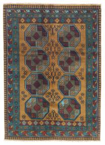 Afghan Teppich 122X170 Echter Orientalischer Handgeknüpfter Dunkelgrau/Hellbraun (Wolle, Afghanistan)