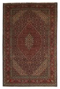 Täbriz 40 Raj Teppich  201X312 Echter Orientalischer Handgeknüpfter Dunkelrot/Dunkelbraun/Braun (Wolle/Seide, Persien/Iran)