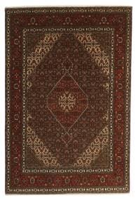Täbriz 40 Raj Teppich  196X301 Echter Orientalischer Handgeknüpfter Dunkelbraun/Braun (Wolle/Seide, Persien/Iran)