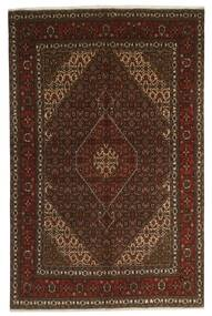 Täbriz 40 Raj Teppich  200X300 Echter Orientalischer Handgeknüpfter Dunkelbraun/Braun (Wolle/Seide, Persien/Iran)