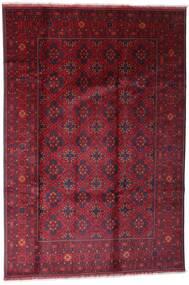 Afghan Khal Mohammadi Teppich 198X296 Echter Orientalischer Handgeknüpfter Dunkelrot/Rot (Wolle, Afghanistan)