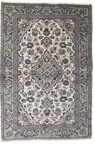 Keshan Teppich  98X145 Echter Orientalischer Handgeknüpfter Hellgrau/Dunkelgrau (Wolle, Persien/Iran)
