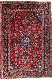 Keshan Teppich  100X147 Echter Orientalischer Handgeknüpfter Dunkelrot/Dunkellila (Wolle, Persien/Iran)