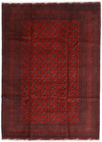 Afghan Teppich 205X284 Echter Orientalischer Handgeknüpfter Dunkelrot/Dunkelbraun (Wolle, Afghanistan)