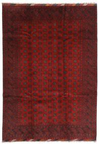 Afghan Teppich 202X283 Echter Orientalischer Handgeknüpfter Dunkelrot/Dunkelbraun (Wolle, Afghanistan)