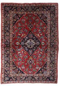 Keshan Teppich  101X140 Echter Orientalischer Handgeknüpfter Dunkelbraun/Dunkelrot (Wolle, Persien/Iran)