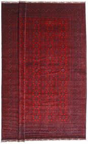 Kunduz Teppich  402X486 Echter Orientalischer Handgeknüpfter Dunkelrot Großer (Wolle, Afghanistan)