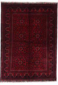 Kunduz Teppich 147X198 Echter Orientalischer Handgeknüpfter Dunkelrot (Wolle, Afghanistan)