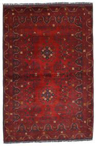 Kunduz Teppich 100X150 Echter Orientalischer Handgeknüpfter Dunkelrot (Wolle, Afghanistan)