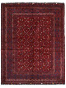 Kunduz Teppich 161X208 Echter Orientalischer Handgeknüpfter Dunkelrot (Wolle, Afghanistan)