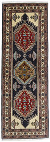 Ardebil Teppich 69X197 Echter Orientalischer Handgeknüpfter Läufer Dunkelrot/Dunkelbraun (Wolle, Persien/Iran)