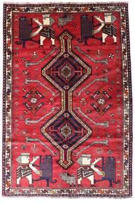 Ghashghai Teppich 162X242 Echter Orientalischer Handgeknüpfter Rot/Dunkelrot (Wolle, Persien/Iran)