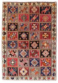 Ghashghai Teppich 136X197 Echter Orientalischer Handgeknüpfter Dunkelrot/Dunkelbraun (Wolle, Persien/Iran)