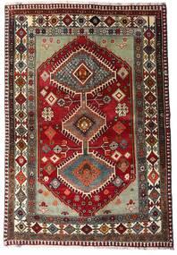 Ghashghai Teppich  136X197 Echter Orientalischer Handgeknüpfter Dunkelrot/Dunkelgrau (Wolle, Persien/Iran)