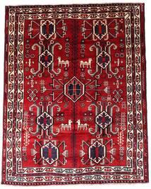 Lori Teppich 195X246 Echter Orientalischer Handgeknüpfter Dunkelrot (Wolle, Persien/Iran)