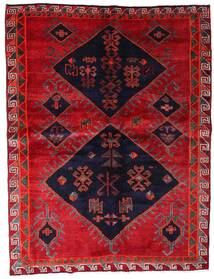 Lori Teppich 172X226 Echter Orientalischer Handgeknüpfter Rot/Dunkellila (Wolle, Persien/Iran)