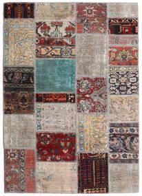 Patchwork - Persien/Iran Teppich 141X198 Echter Moderner Handgeknüpfter Hellgrau/Dunkelbraun (Wolle, Persien/Iran)