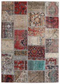 Patchwork - Persien/Iran Teppich  141X198 Echter Moderner Handgeknüpfter Hellgrau/Dunkelrot (Wolle, Persien/Iran)