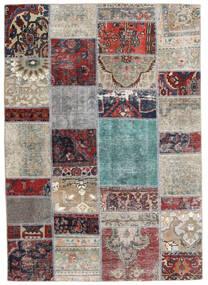 Patchwork - Persien/Iran Teppich 141X202 Echter Moderner Handgeknüpfter Hellgrau/Dunkelgrau (Wolle, Persien/Iran)