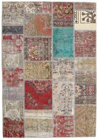 Patchwork - Persien/Iran Teppich 141X203 Echter Moderner Handgeknüpfter Hellgrau/Braun (Wolle, Persien/Iran)